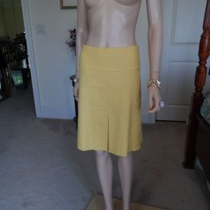 Tory Burch MarigoldYellow Jaquard Pleated Skirt 12